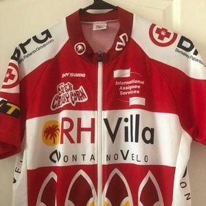 Bergamo Cycling Bike Jersey Red / White 994*
